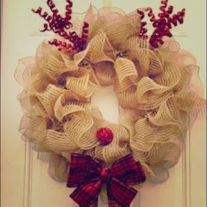 Other - Holiday reindeer wreath